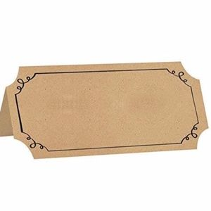 Other - Kraft Paper Tent Card placecards (100 pieces)